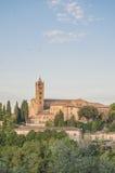 San Francesco, a church in Siena, Tuscany, Italy. Royalty Free Stock Images