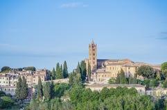 San Francesco, a church in Siena, Tuscany, Italy. San Francesco, a basilica church in Siena, Tuscany, Italy Stock Photography