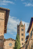 San Francesco, a church in Siena, Tuscany, Italy. Royalty Free Stock Photo