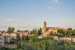 San Francesco, a church in Siena, Tuscany, Italy. Stock Photos