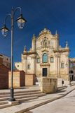 San Francesco d`Assisi church. Matera. Basilicata. Apulia or Puglia. Italy. Baroque church of Saint Francis of Assisi. Chiesa San Francesco d`Assisi. Facade Stock Photo