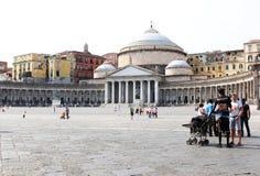 SAN Francesco Di Paola στη Νάπολη, Ιταλία Στοκ Εικόνες