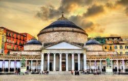 San Francesco di Paola Basilica in Naples Stock Photos