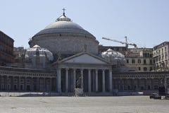 San Francesco di Paola church, Naples Stock Image
