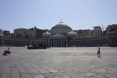San Francesco di Paola church, Naples Stock Photography