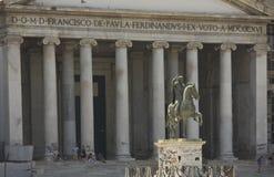 San Francesco di Paola church, Naples Royalty Free Stock Image