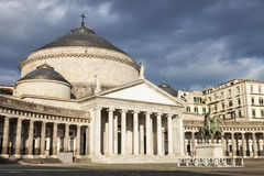 San Francesco di Paola Church in Naples Stock Photography