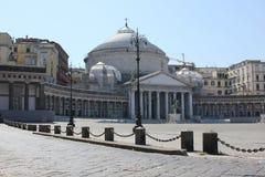 San Francesco Di Paola kościół w piazza Del Plebiscito obraz royalty free