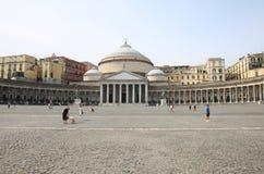 San Francesco di Paola, Naples, Italien Arkivfoto