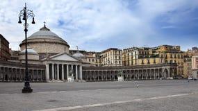 San Francesco di Paola in Naples, Italy Stock Photo