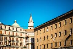 San Francesco di Paola, Plebiscito fyrkant i Naples Royaltyfri Fotografi