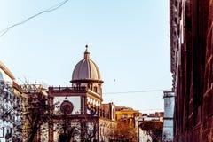 San Francesco di Paola, quadrado de Plebiscito em Nápoles Fotografia de Stock