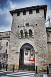 San Francesco gate in San Marino. Processed for hdr tone mapping effect royalty free stock photography