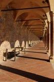 Zakrywający sposobu San Francesco kwadrat przy Assisi Obraz Stock