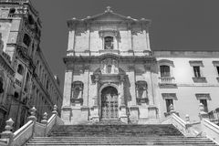 NOTO, ITALY - San Francesco D`Assisi church Royalty Free Stock Photo