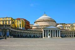 San Francesco Paola, Naples. San Francesco Paola on Piazza del Plebiscito, Italy, Naples Royalty Free Stock Photography