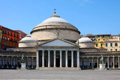 San Francesco Paola,  Naples Stock Photos