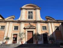 San Francesco a Ripa in Rome. San Francesco a Ripa facade of the baroque church in Rome, Italy Royalty Free Stock Photos