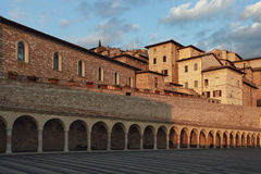 San Francesco square at Assisi Royalty Free Stock Photos
