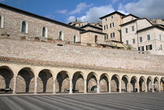 San Francesco Square in Assisi Royalty Free Stock Photo
