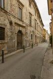 San Francesco street, Rieti Stock Images