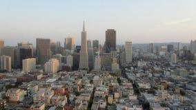 San Francico, USA - September 12, 2011: Horisonten av den San franc Arkivfoton