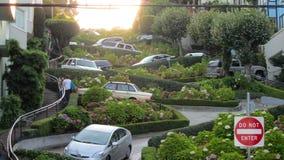 San Francico, USA - September 12, 2011: Lombardgata- mest Royaltyfri Fotografi