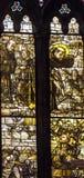 San Francis Stained Glass Altar Santa Maria Frari Church Venice Italy Immagini Stock Libere da Diritti