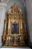 San Francis Xavier, altare nella basilica del cuore sacro di Gesù a Zagabria Fotografia Stock Libera da Diritti