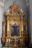 San Francis Xavier, altare nella basilica del cuore sacro di Gesù a Zagabria Fotografie Stock Libere da Diritti