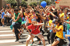 SAN FRANCISCO – JUNE 28: Paraders on Market Street in the SF P Stock Photography