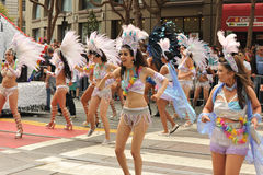 SAN FRANCISCO – JUNE 28: Paraders on Market Street in the SF P Royalty Free Stock Photo