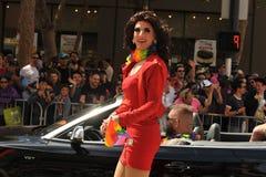 """SAN FRANCISCO †""""28 JUNI: Paraders op Marktstraat in SF P Royalty-vrije Stock Afbeeldingen"""