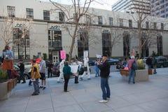 SAN FRANCISCO - 17 DE FEBRERO: âForward masivo en el ra de Climateâ Imagen de archivo libre de regalías