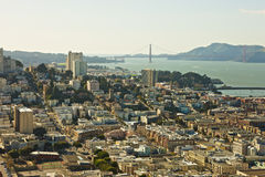 San Francisco. Harbor view with Golden Gate in the background Stock Image