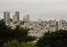 San Francisco. A cityscape of San Francisco, California on a typical overcast day Stock Photography