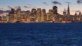 San Francisco. Skyline at sunset, seen from Treasure Island Royalty Free Stock Photo