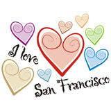 San francisco. Art illustration: i love san francisco Stock Photo