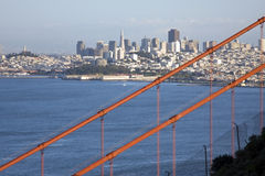 San Francisco. Golden gate bridge and Downtown San Francisco Royalty Free Stock Photo