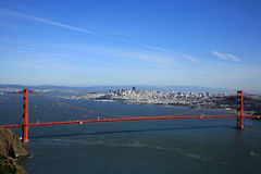 San Francisco. With Golden gate bridge Stock Photography
