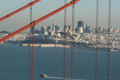 San Francisco achter brug Stock Foto's