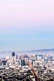 San Francisco Aerial Cityscape con el cielo Imágenes de archivo libres de regalías