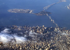San Francisco aerial view. Aerial view of San Francisco Stock Images