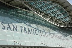 San francisco airport. Part of the roof at san francisco airport Stock Photo