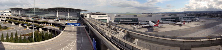 San Francisco Airport entrance panoramic Stock Images