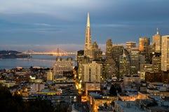 San Francisco al crepuscolo Fotografia Stock