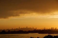 San Francisco and Alameda Sunset Royalty Free Stock Image