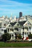 San Francisco ' alamo ' lady malowaniu square Obraz Royalty Free