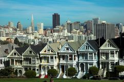 San Francisco ' alamo ' lady malowaniu square Fotografia Royalty Free