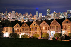 San francisco alamo square Royalty Free Stock Photos